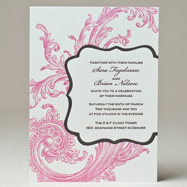 Chic Swirl Wedding Invitation